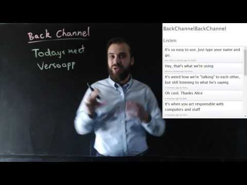 Why Use A Backchannel In Your Classroom