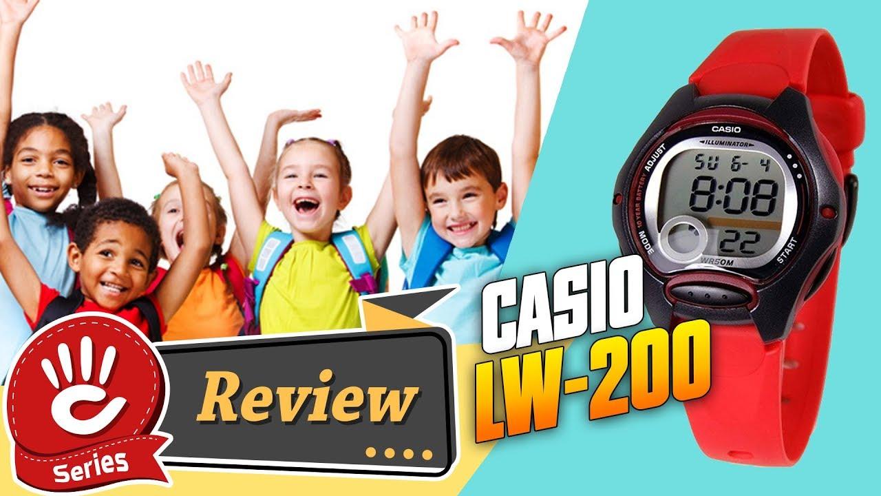Đồng Hồ Casio Trẻ Em LW-200-4AVDF Chính Hãng Siêu Rẻ Dưới 1 Triệu   Casio Review #19