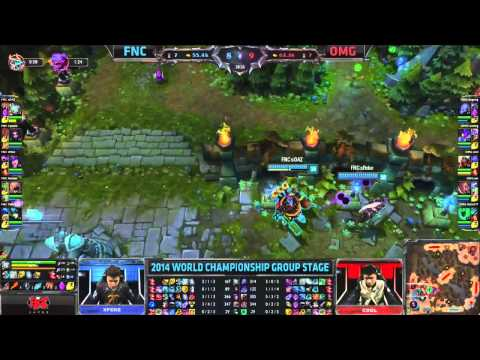 Best Professional Game In League of Legends History! Fnatic vs OMG - 2014 S4 World Championships!