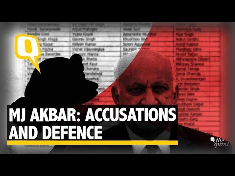How MJ Akbar's Defence Sounds Against Sexual Harassment Allegations | The Quint