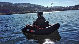 A primeira vez a pescar de pato/float tube.
