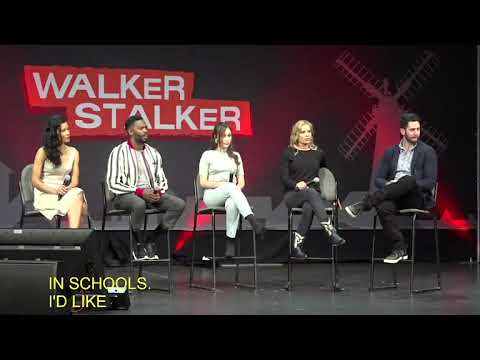 Fear The Walking Dead : Kim Dickens, Alycia DebnamCarey, Colman Domingo, Danay Garica 2018 Atlanta