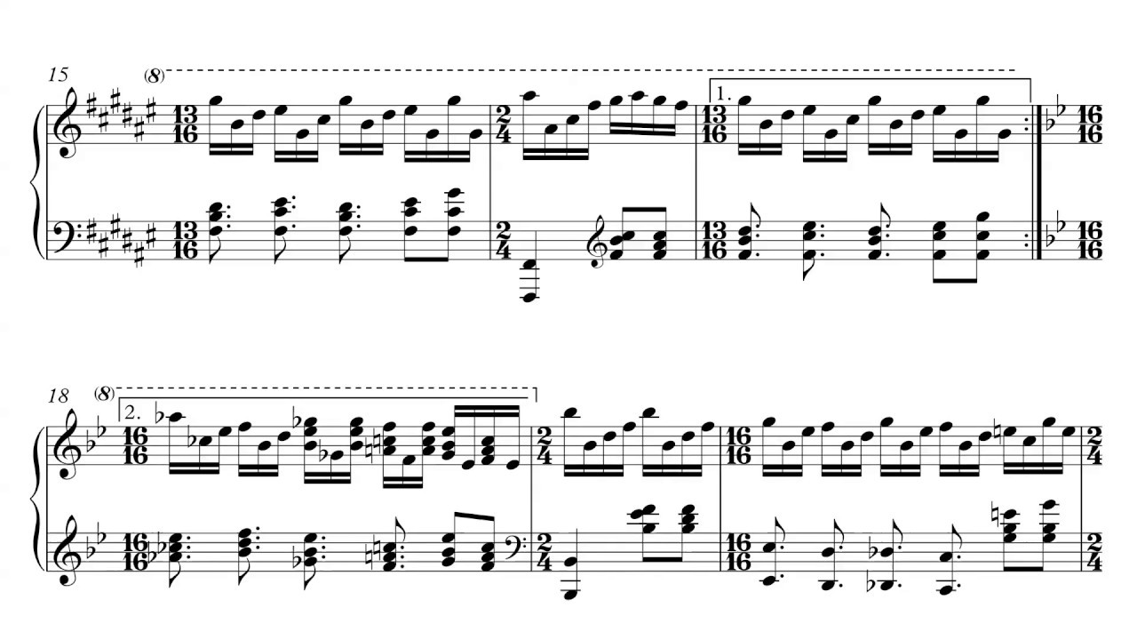 Genesis - Firth of Fifth - Piano Sheet Music + PDF