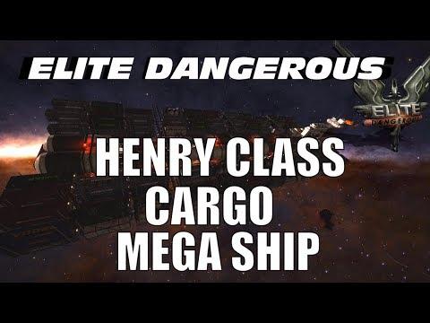 Elite Dangerous : Henry Class Bulk Cargo vessel with log