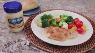 Parmesan Crusted Chicken Recipe  Hellmanns