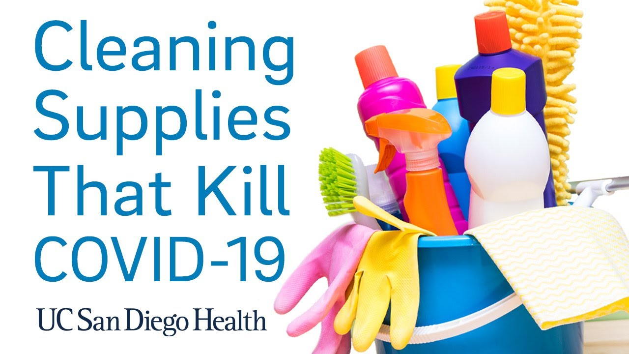 What Cleaning Supplies Will Help Combat COVID 12   UC San Diego Health