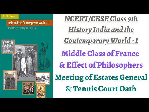 (P2 Tennis Court Oath, Estates General Meeting, People's problems) NCERT Class 9th History Chapter 1