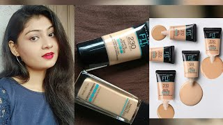 Maybelline fit me tube foundation review all shades review