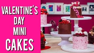 How To Make MINI CAKES for VALENTINE'S DAY! Easy, Quick, And Full of Candy!