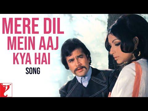 Mere Dil Mein Aaj Kya Hai Song | Daag | Rajesh Khanna | Sharmila Tagore | Kishore Kumar