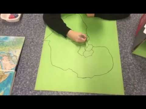 Me making part of Africa on map