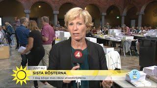 """Här räknas de sista rösterna: """"De kan ändra mandatfördelningen helt"""" - Nyhetsmorgon (TV4)"""