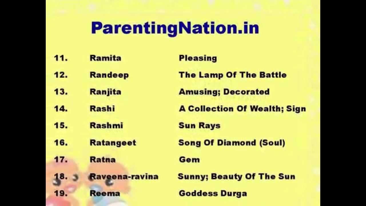 Tula Rashi Girl Names With Meanings