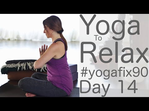 30 Minte Yoga to Relax and Renew Day 14 Yoga Fit 90 with Fightmaster Yoga