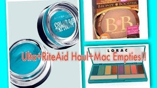 Ulta + Rite Aid Haul + Mac Empties Thumbnail