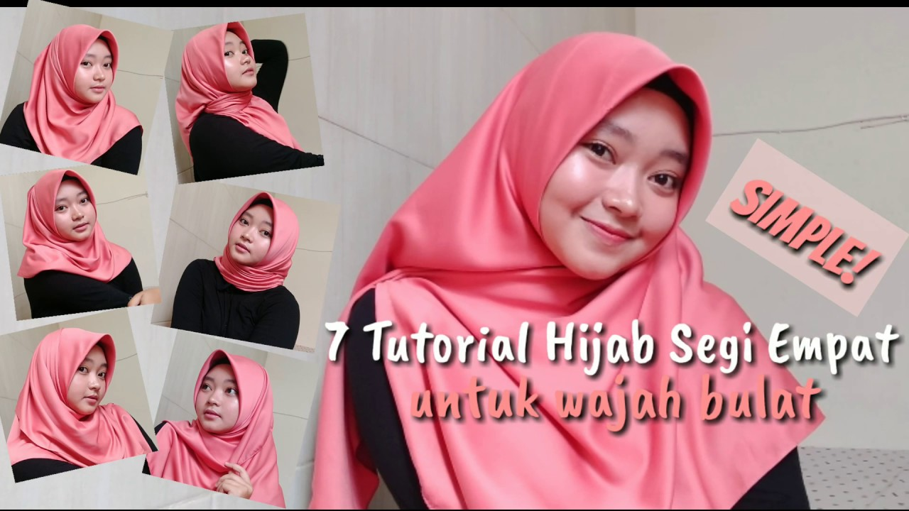 7 Tutorial Hijab Segi Empat Untuk Wajah Bulat Simple Delillah Nurul Youtube
