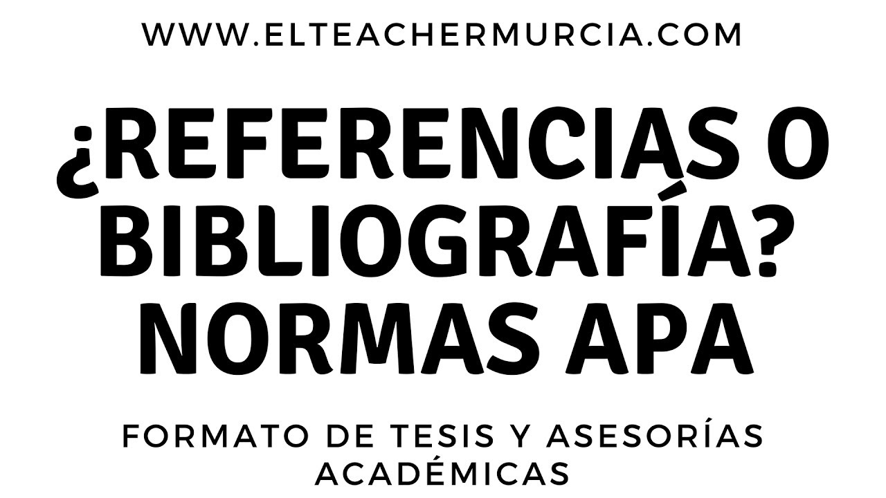 Referencias o Bibliografía en Normas APA - Sexta edición | LA MÁS ...