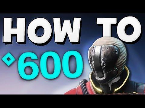 Destiny 2 - How To Get 600 Power Level Super Quick (Guide) !