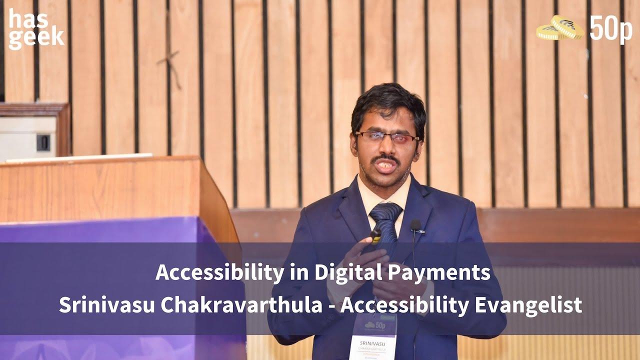 Srinivasu speaking at 5P conference