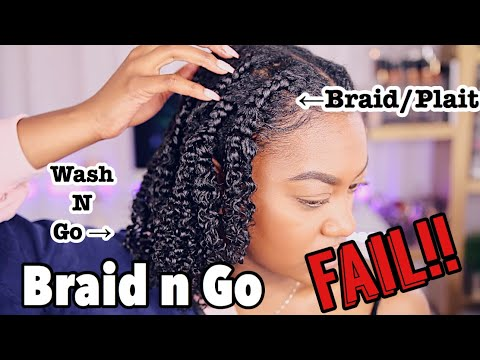STRETCHED Wash N Go? WTH is a BraidNGo? WATCH THIS VIDEO LMAOOOO