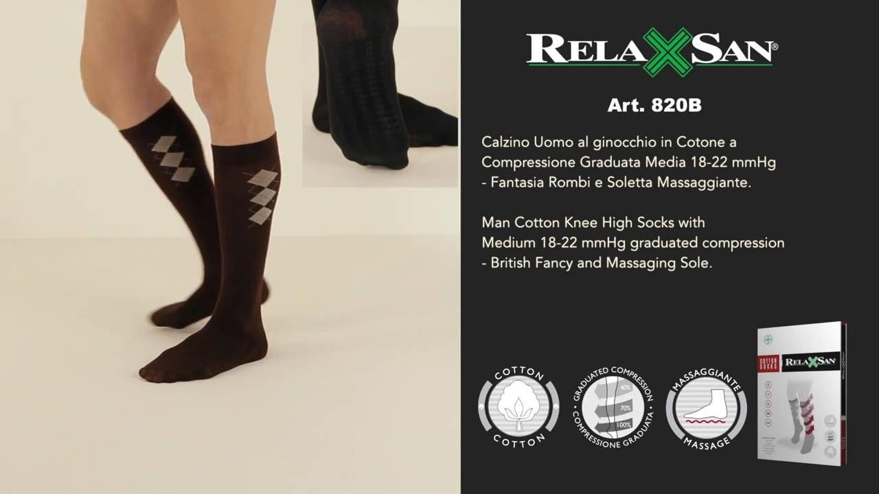 Art.820B - Κάλτσες Βαμβακερές με Σόλα Μασάζ - YouTube c581c719959
