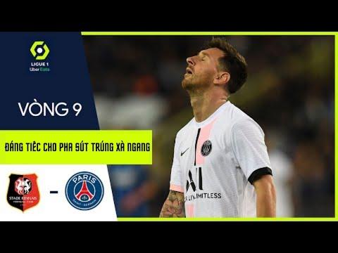 Đáng tiếc cho Messi lại sút trúng xà ngang trong trận gặp Rennes 🤦🏻♂️