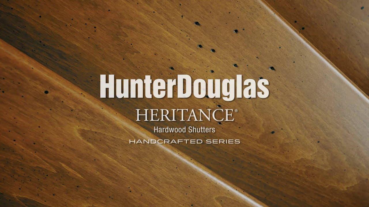 Heritance® hardwood shutters - Hunter Douglas - YouTube