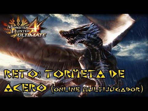 Monster Hunter 4 Ultimate - KUSHALA DAORA reto: tormenta de acero- gameplay online español