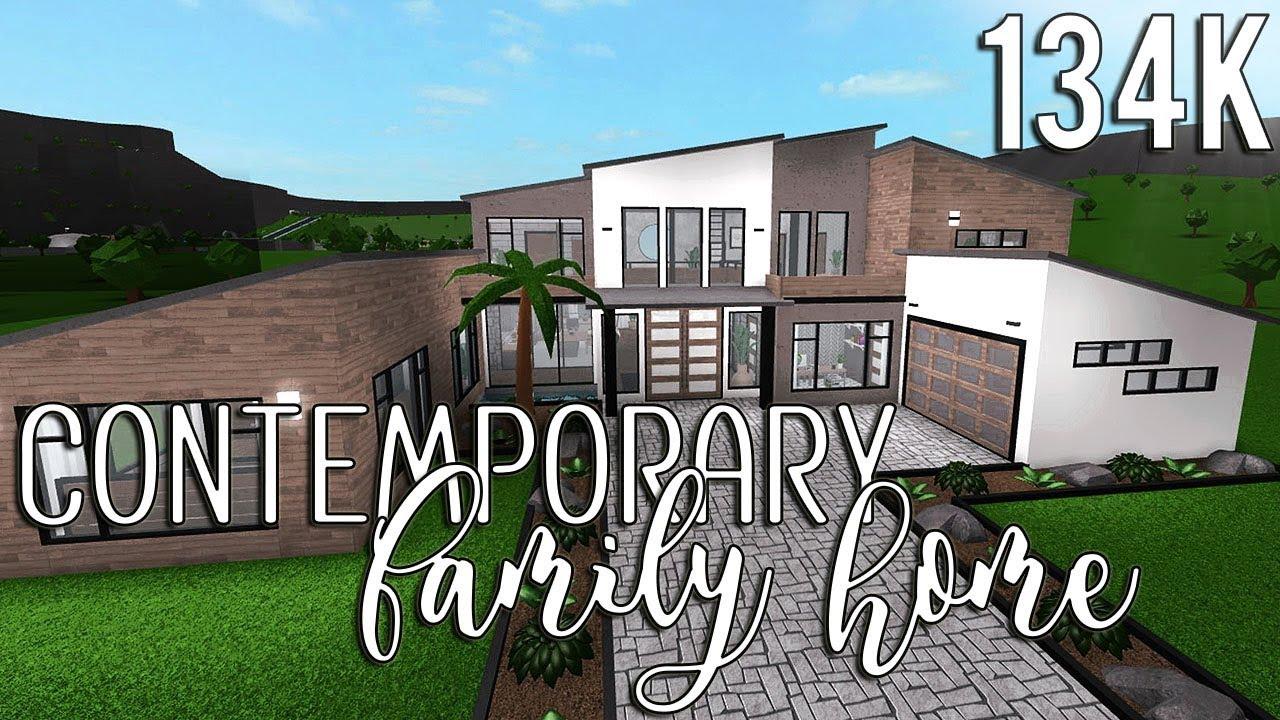 Roblox Bloxburg Contemporary Family Home 134k Youtube
