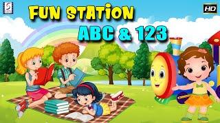 Fun Station ABCs 123 | Alphabet Numbers Nursery Rhymes | Kids Learn Cartoons kids Cartoon Mania