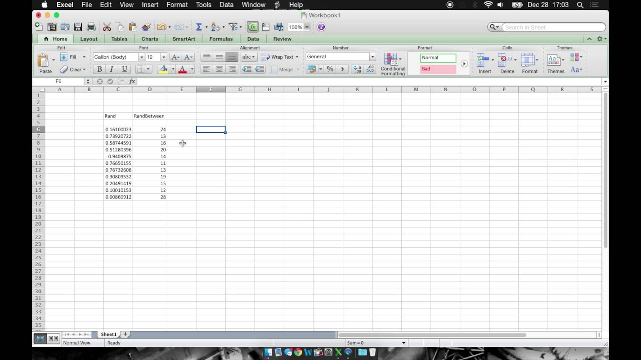 Excel: How To Generate Random Numbers - YouTube