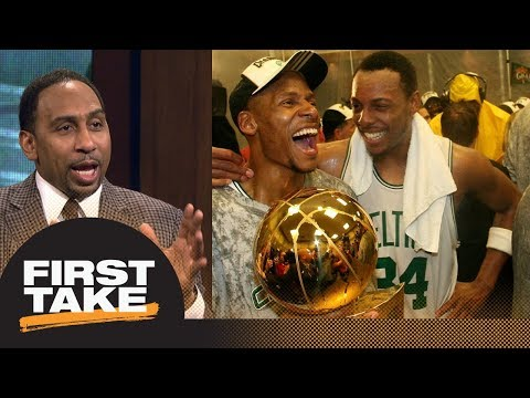 Stephen A. Smith: Ray Allen should've been at Paul Pierce's jersey retirement | First Take | ESPN