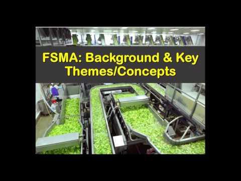 Overview of FSMA [Webinar]