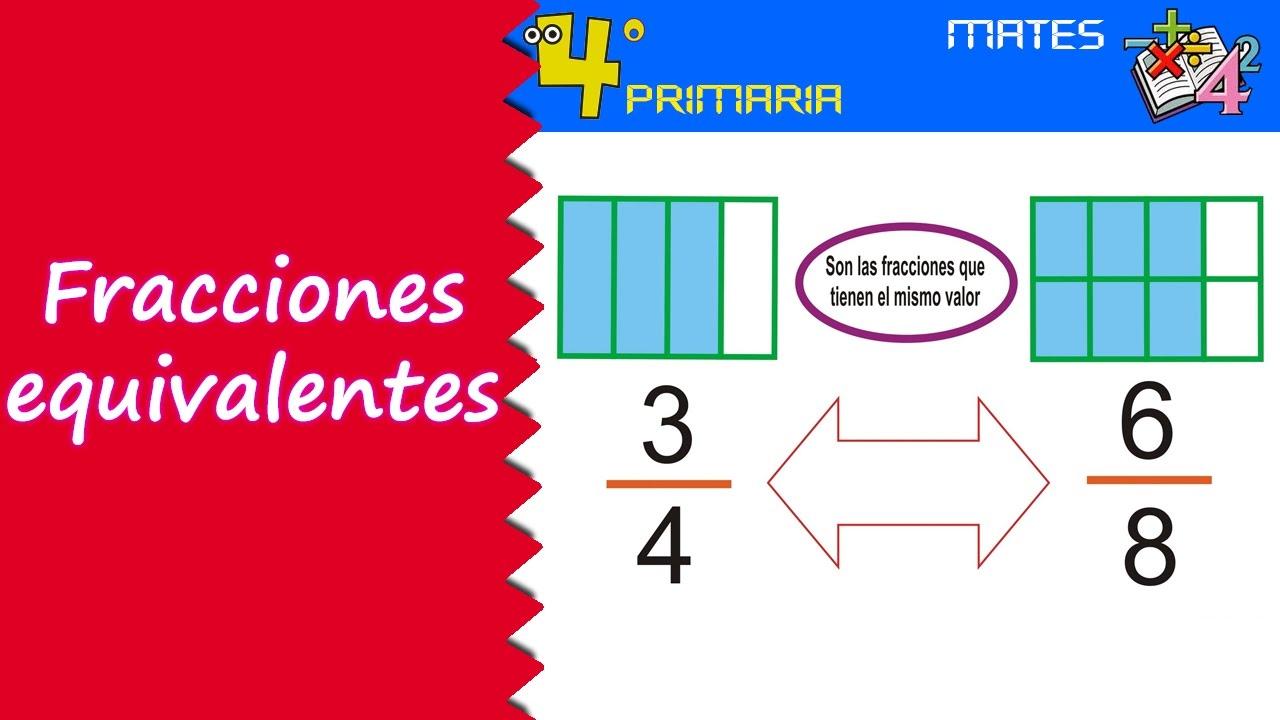 Matemáticas. 4º Primaria. Tema 9. Fracciones equivalentes - YouTube
