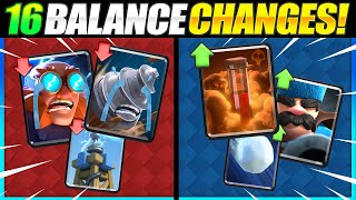 *NEW* BALANCE CHANGES EXPLAINED in Clash Royale!! [META SHIFTING!]