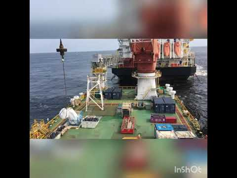 Offshore Total Congo, Pointe noire 2017 - Huisman400t in actions