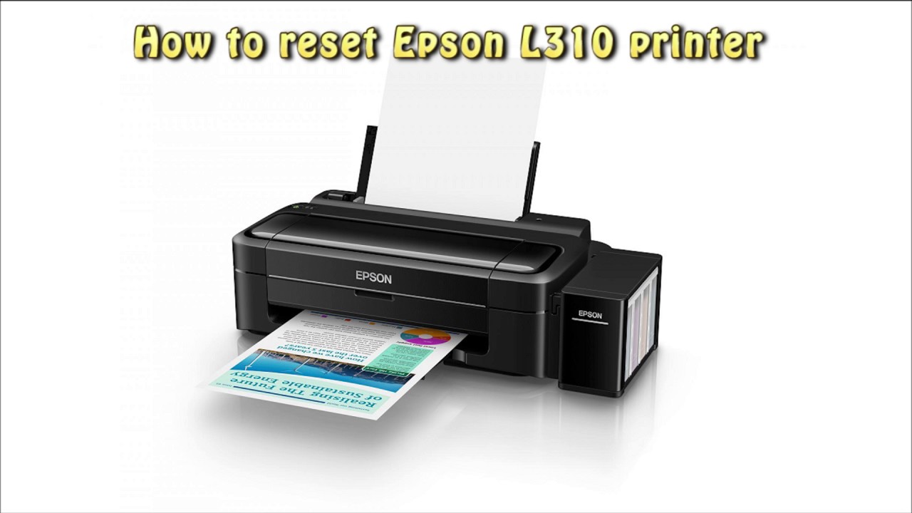 Reset Epson L310 Waste Ink Pad Counter Youtube