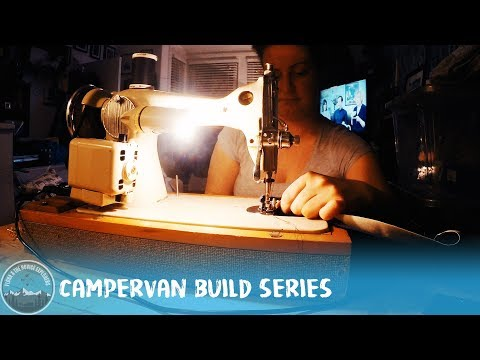 Day 15 - Making our Thermal/Blackout curtain (Part 1) #VanLife VW T5 Camper Conversion
