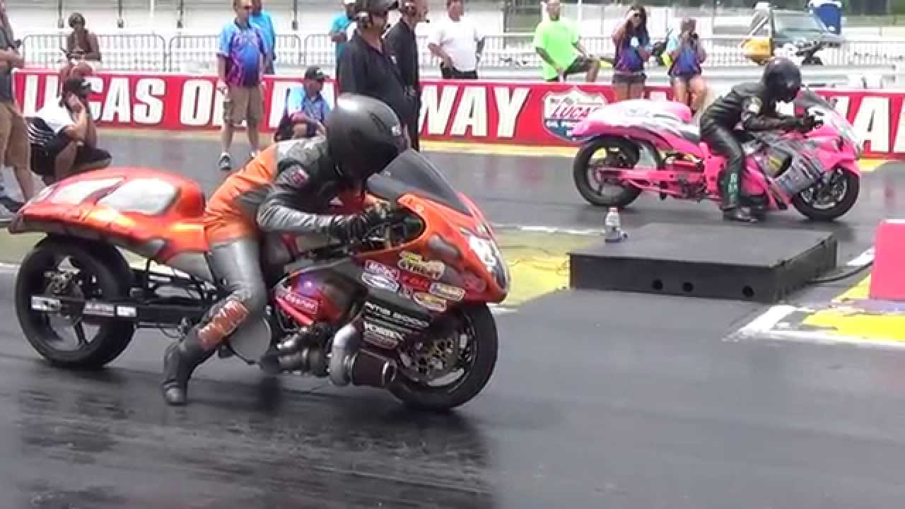 The Virus Vs Pink Flamingo Pro Street Motorcycle Drag Racing 2014