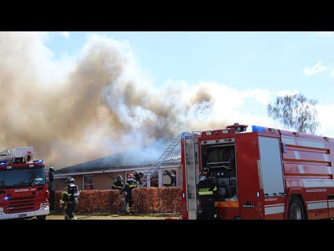 21.04.21 Voldsom brand i psykiatrisk bosted i Dianalund