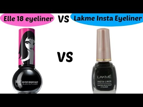 Elle 18 Eyeliner VS Lakme insta Eyeliner Review & Swatch || Affordable Liquid Eyeliners ||