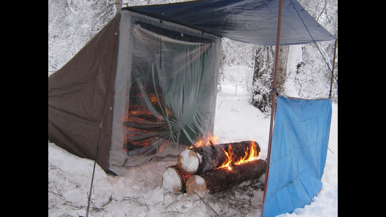 92 Degrees In A Campfire Heated Tent - YouTube