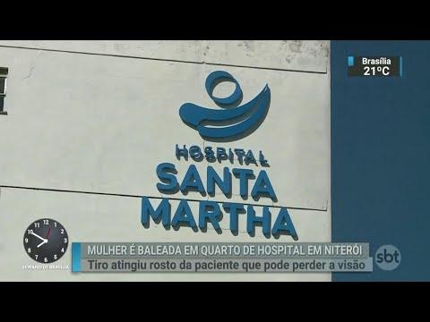 Mulher é atingida por bala perdida dentro de hospital no Rio de Janeiro   SBT Brasil (11/08/18)