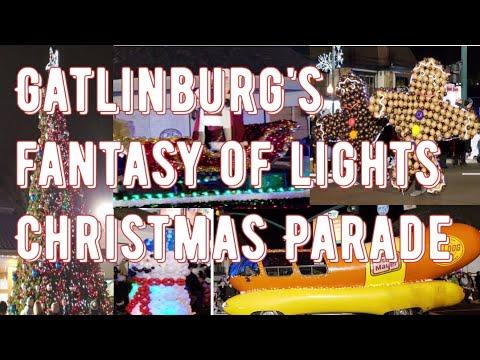 Gatlinburg Christmas Parade.Gatlinburg Fantasy Of Lights Christmas Parade 2018