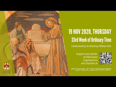 Catholic Weekday Mass Today Online - Thursday, 33rd Week of Ordinary Time 2020
