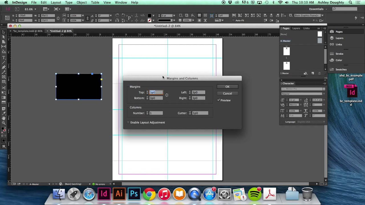 Demo creating an 8 up business card template youtube demo creating an 8 up business card template reheart Images