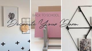 BACK TO SCHOOL 2018 | DIY Dorm Room Decor