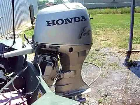 2001 honda 40 four stroke boat motor review youtube rh youtube com