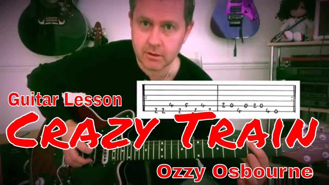 Easy Guitar Lesson Crazy Train Ozzy Osbourne Guitar Tab Youtube