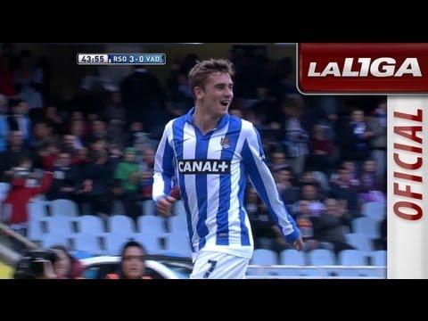 Golazo de Griezmann (3-0) en el Real Sociedad - Real Valladolid - HD